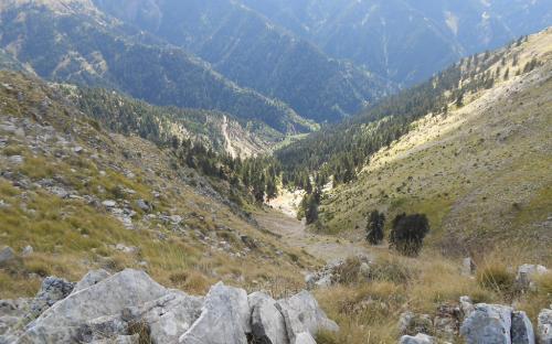 Θέα από την κορυφογραμμή Φουρκούλας - Κουκουρούτζου